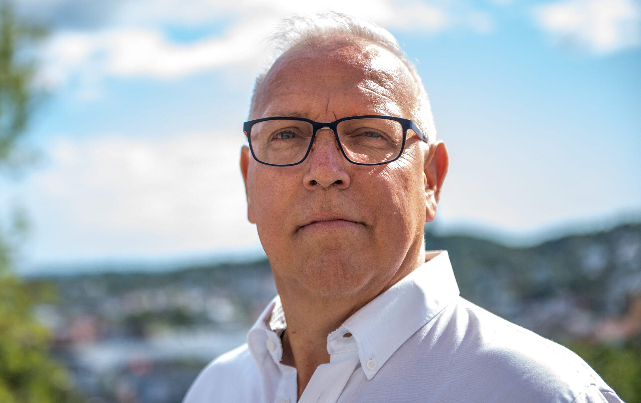 Forbundsleder i fagforbundet Lederne, Audun Ingvartsen. (Foto: Håkon Holo Dagestad)