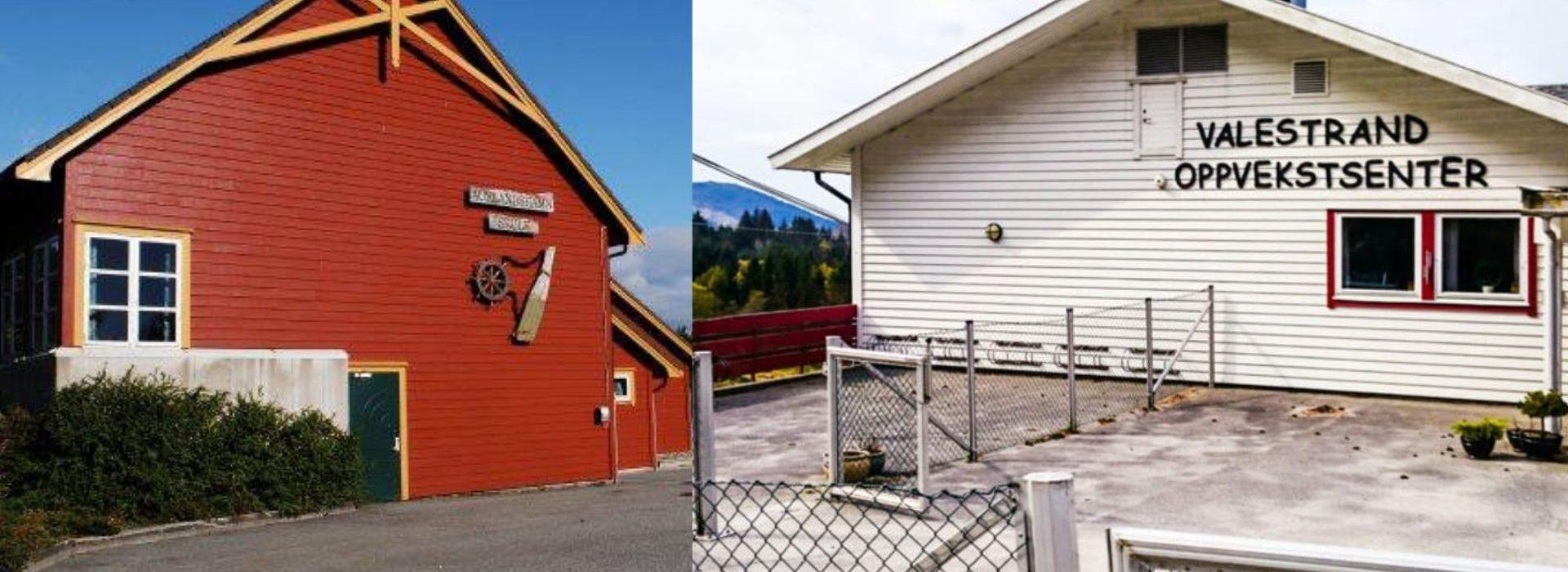 Både Auklandshamn og Valestrand skole i Sveio er nedleggingstruet. Foto: Daniel DeNiazi